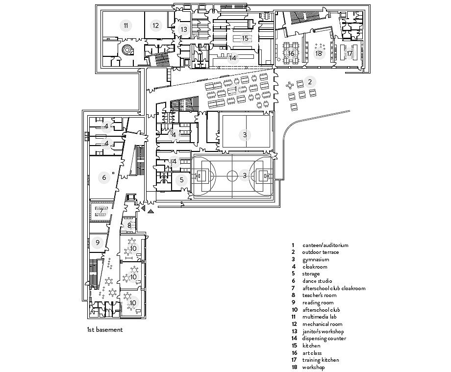 escuela de primaria de soa architekti - plano (26)