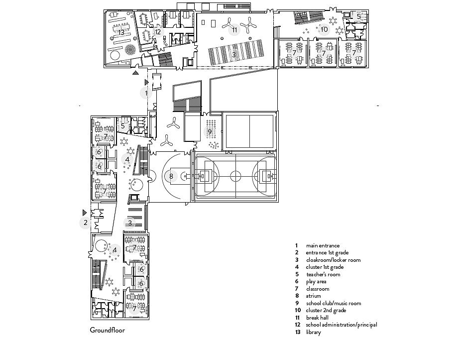 escuela de primaria de soa architekti - plano (27)