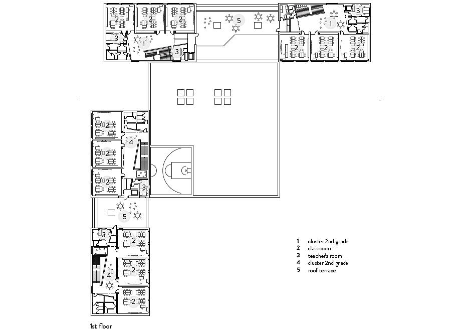 escuela de primaria de soa architekti - plano (28)