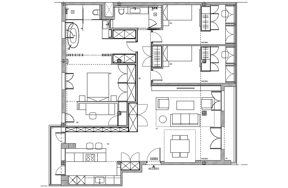 vivienda en sevilla de cm4 arquitectos y egion - plano (28)