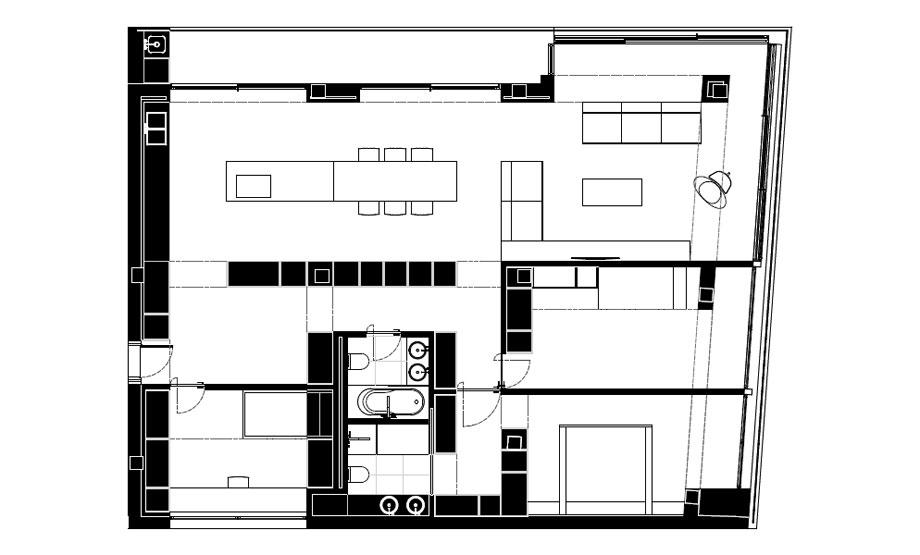 vivienda en orihuela de balzar arquitectos (18B) - plano