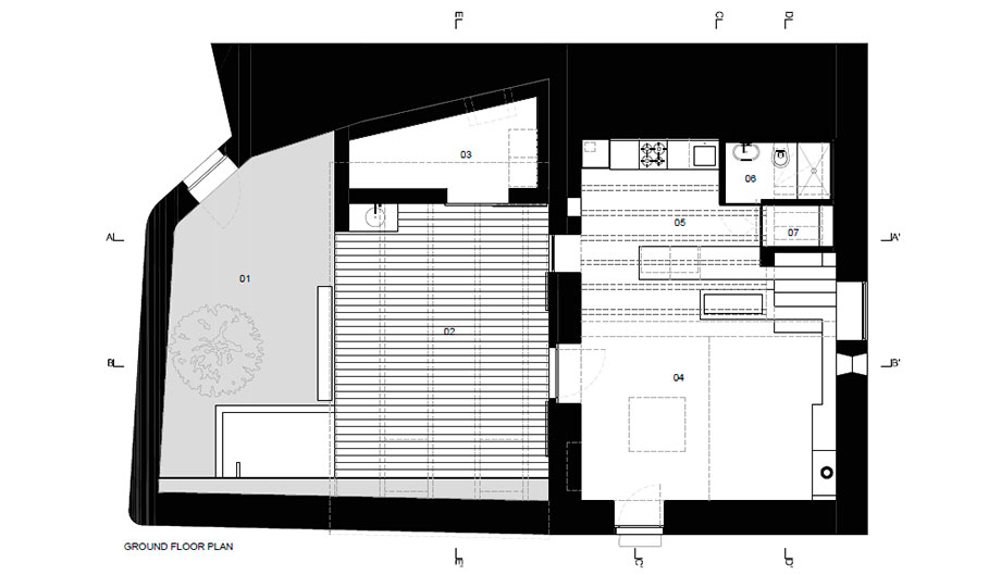casa rural en portugal de hbg architects (21) - plano