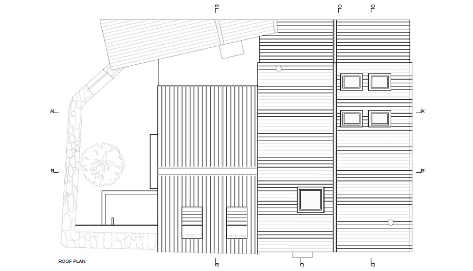 casa rural en portugal de hbg architects (23) - plano