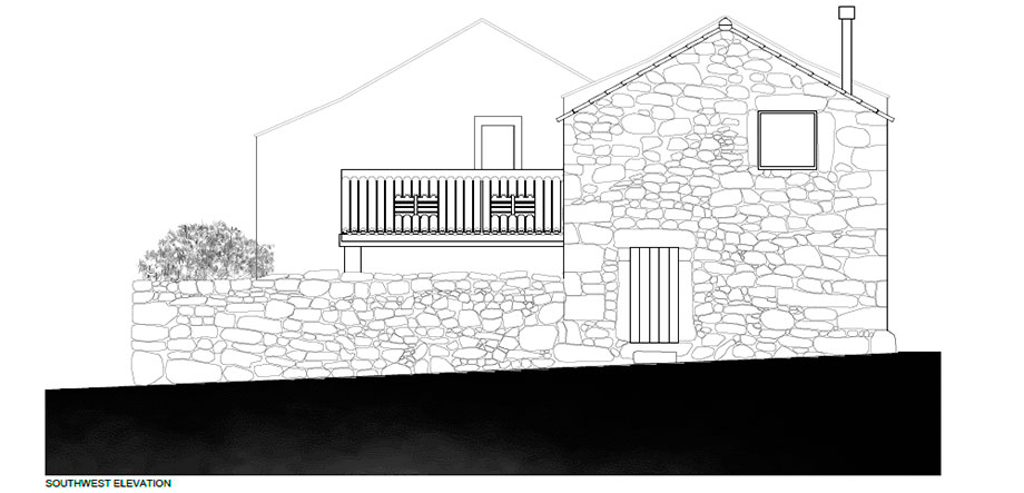 casa rural en portugal de hbg architects (24) - plano