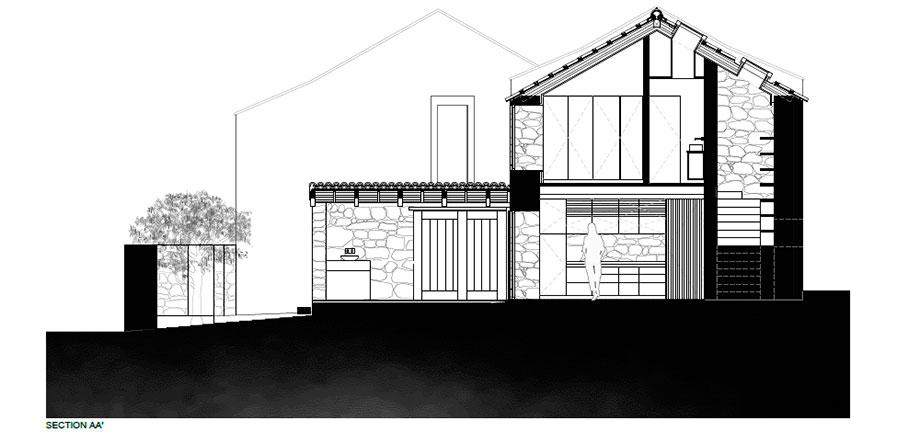 casa rural en portugal de hbg architects (26) - plano
