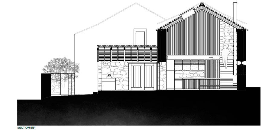 casa rural en portugal de hbg architects (27) - plano
