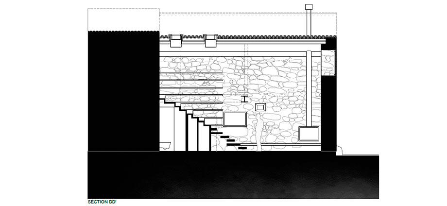 casa rural en portugal de hbg architects (29) - plano