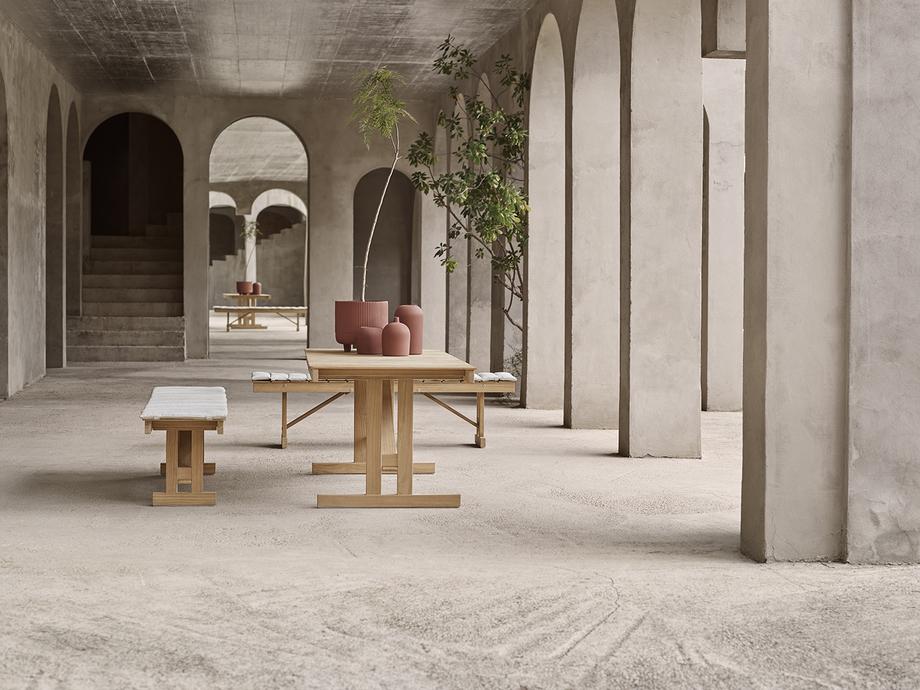 mesa y banco para exteriores de borge mogensen producidos por carl hansen & son (2)