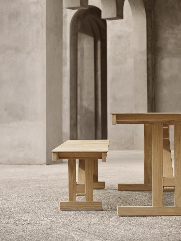 mesa y banco para exteriores de borge mogensen producidos por carl hansen & son (4)