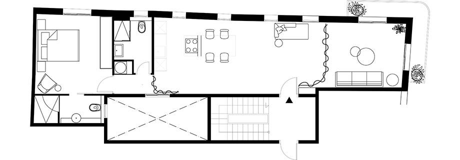 piso en el raval de culto interior design y daniel rotmensch (15) - plano