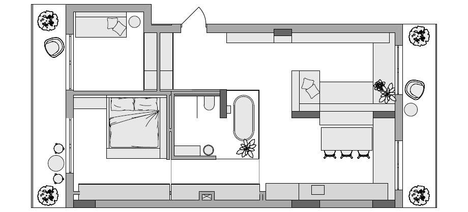 apartamento en kiev de fild (19) - plano