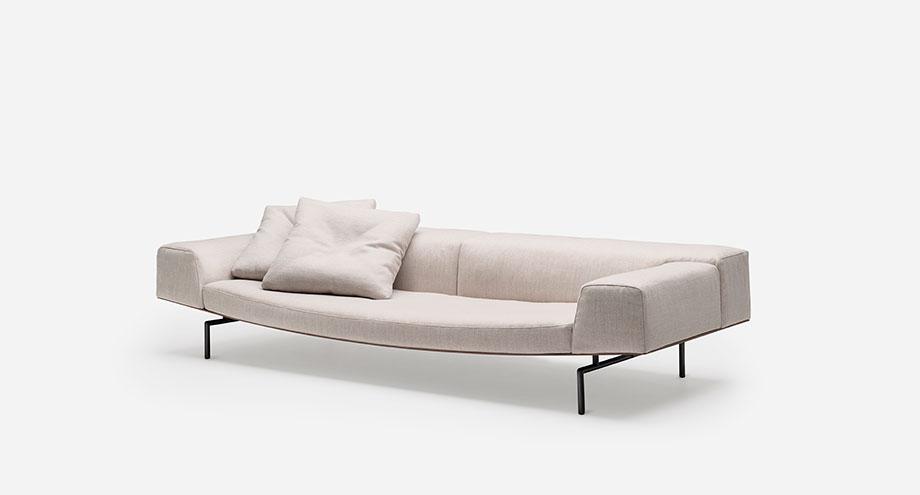 sofa sumo de piero lissoni para living divani (2) - foto cesare chimenti