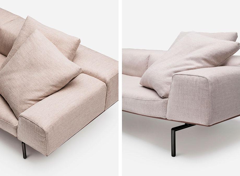 sofa sumo de piero lissoni para living divani (9) - foto cesare chimenti