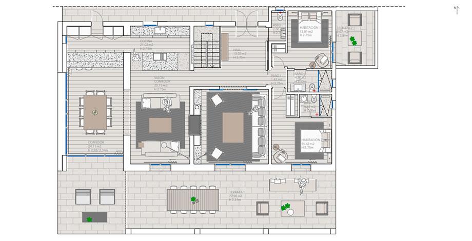 casa mn angel martin interiors (28) - planos