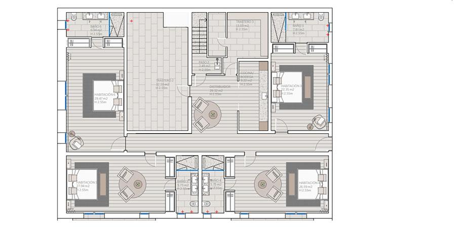 casa mn angel martin interiors (30) - planos