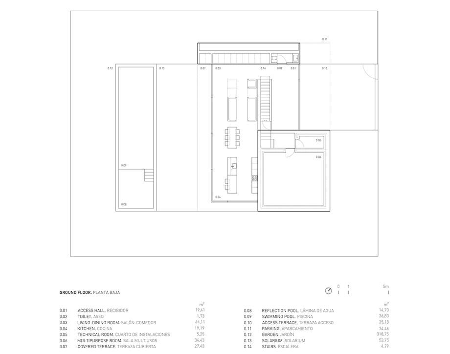 la casa del silencio de fran silvestre arquitectos (20) - planimetria