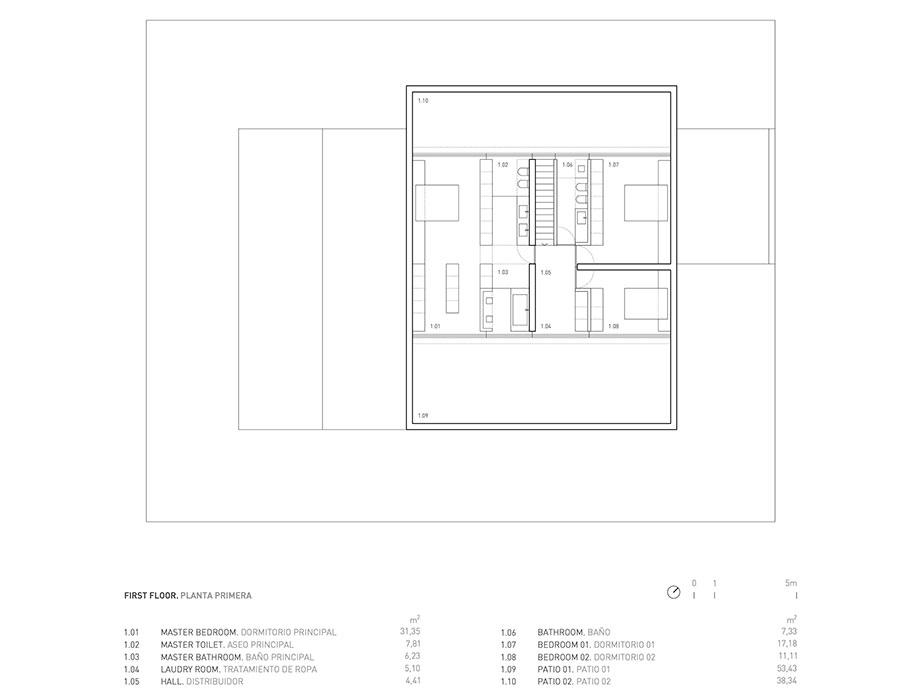 la casa del silencio de fran silvestre arquitectos (21) - planimetria