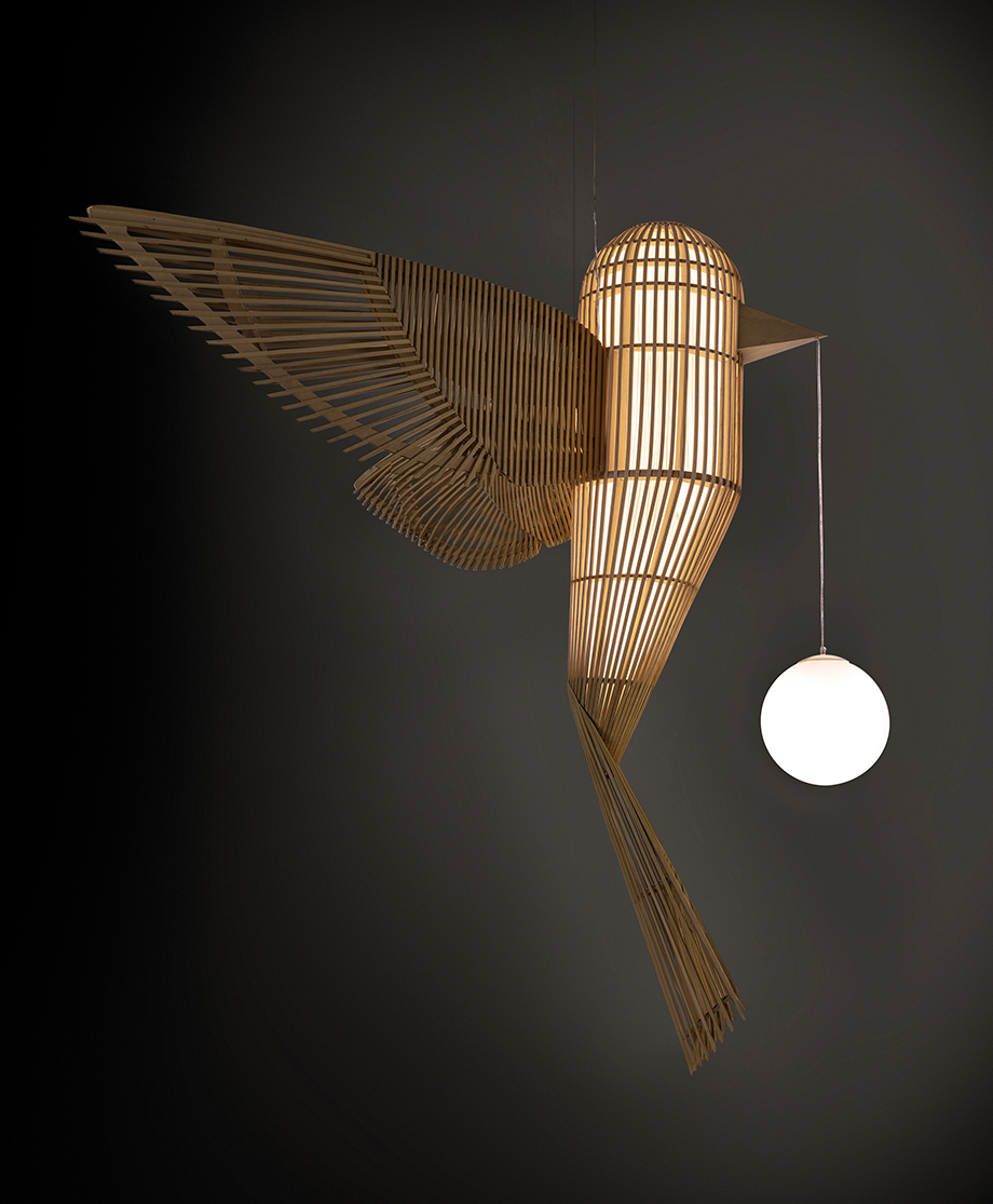 lampara big bird de isidro ferrer para lzf lamps