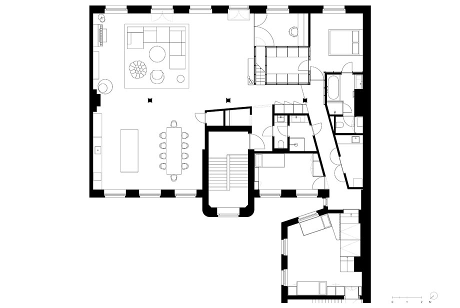 loft sch52 de batek architekten (17) - plano