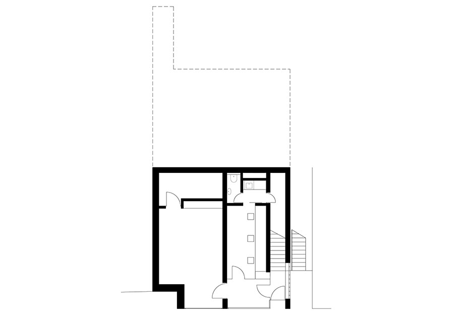 casa en river valley de kuba & pilar architekti (25) - plano