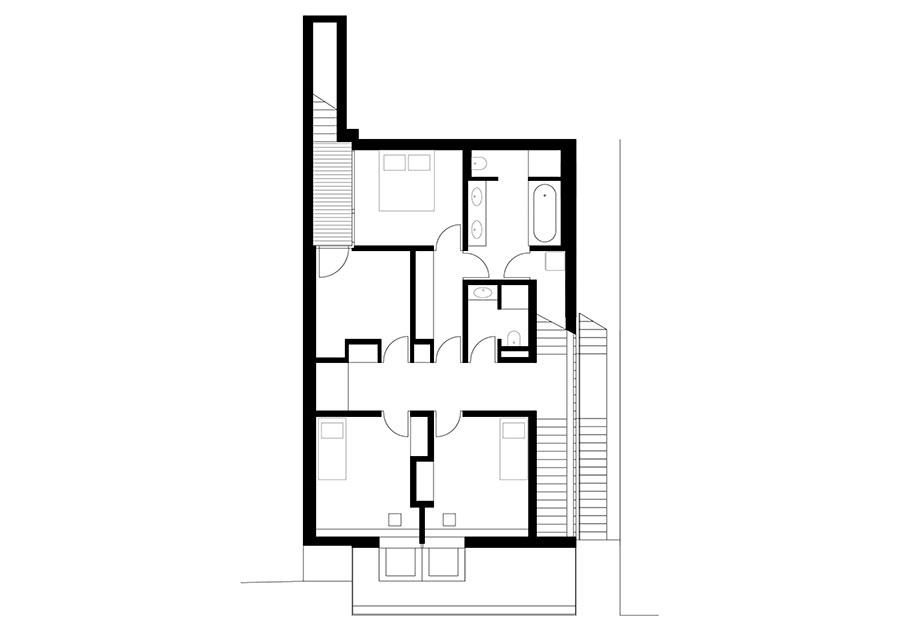 casa en river valley de kuba & pilar architekti (26) - plano