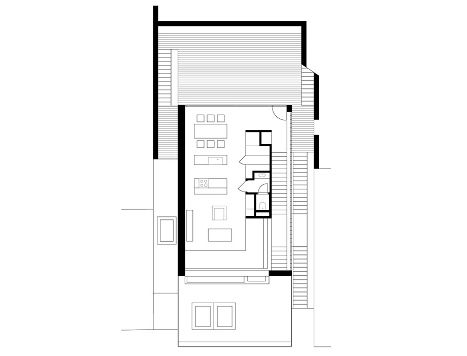 casa en river valley de kuba & pilar architekti (27) - plano