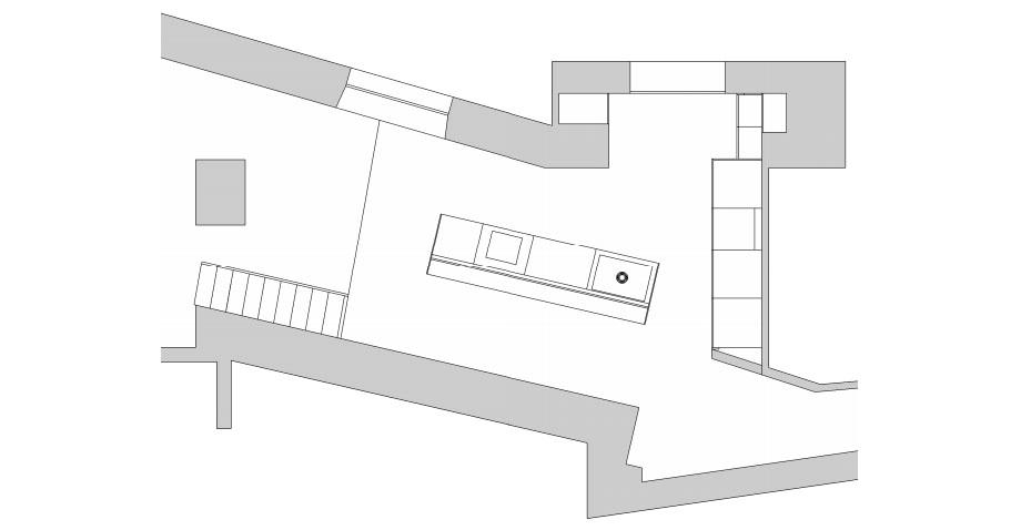 cocina blanca en sevilla de cocinel-la (15) - plano
