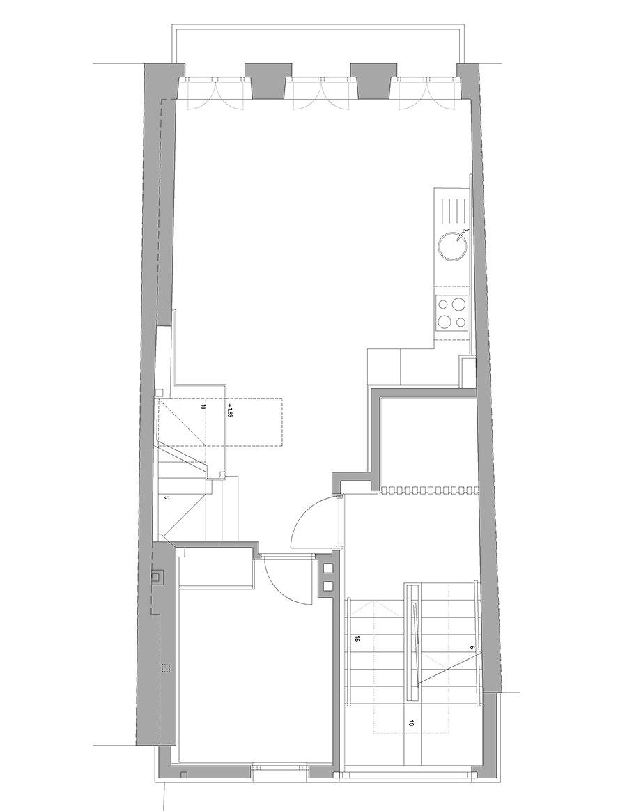 reforma inmueble en vigo de la urbana arquitectura y tree (15) - plano
