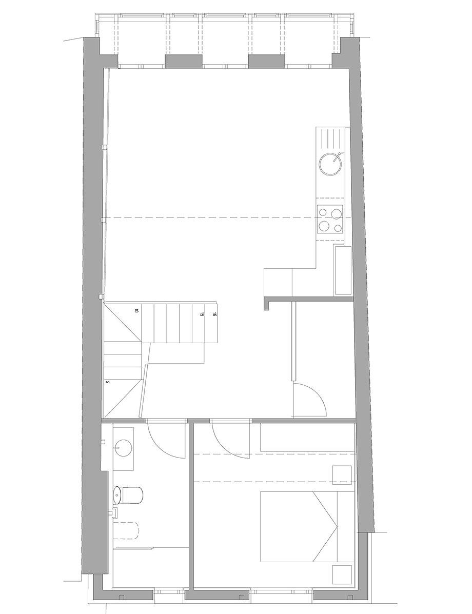 reforma inmueble en vigo de la urbana arquitectura y tree (17) - plano