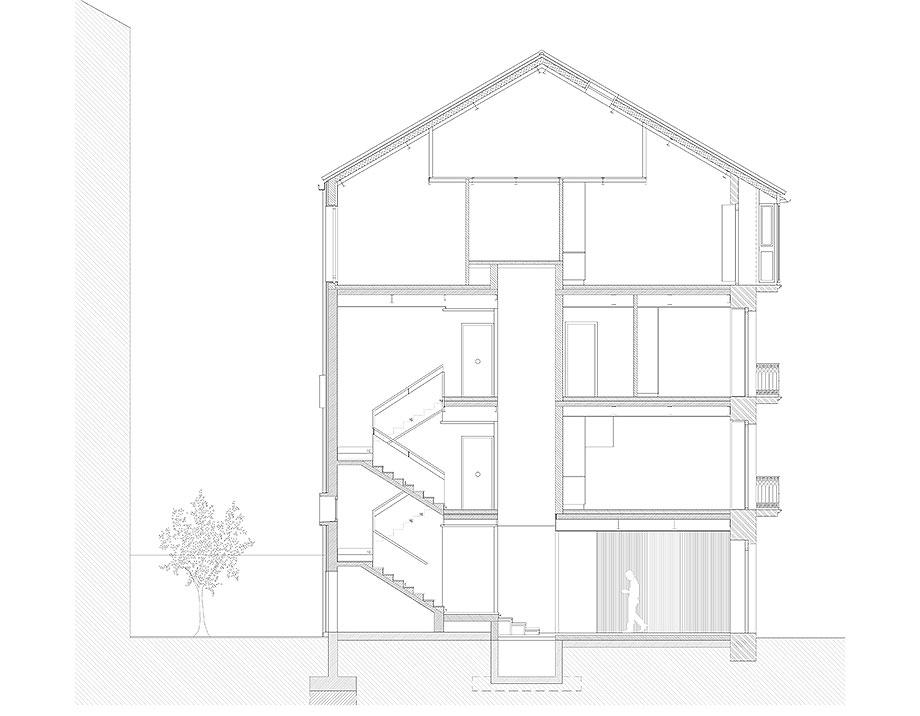 reforma inmueble en vigo de la urbana arquitectura y tree (18) - plano