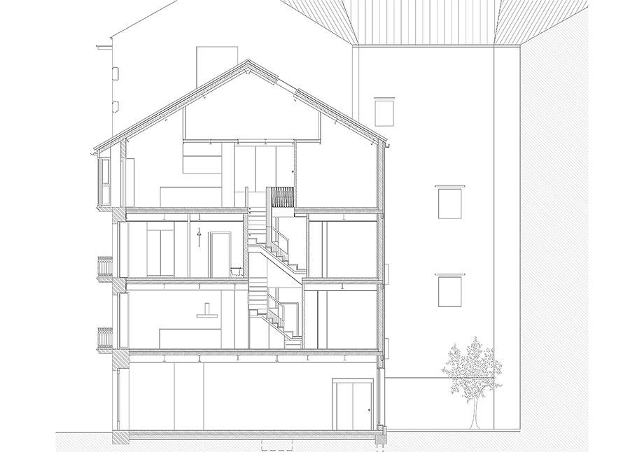 reforma inmueble en vigo de la urbana arquitectura y tree (19) - plano
