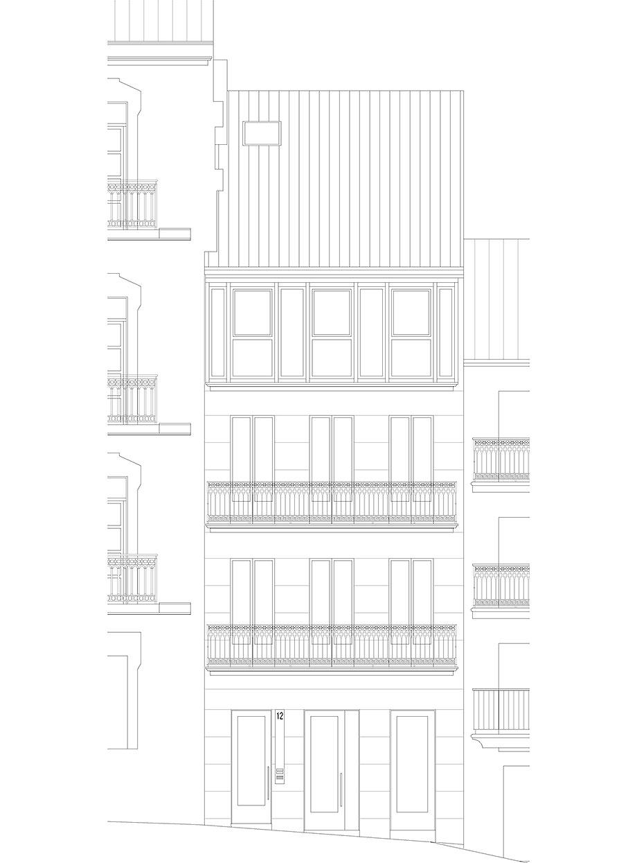 reforma inmueble en vigo de la urbana arquitectura y tree (20) - plano