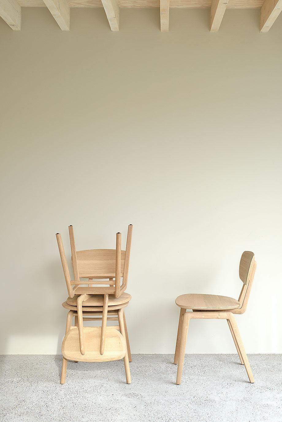 silla de comedor pebble de alain van havre para ethnicraft (1)