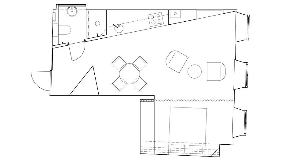 apartamento en vilna de sarkauskai architecture atelier (15) - plano