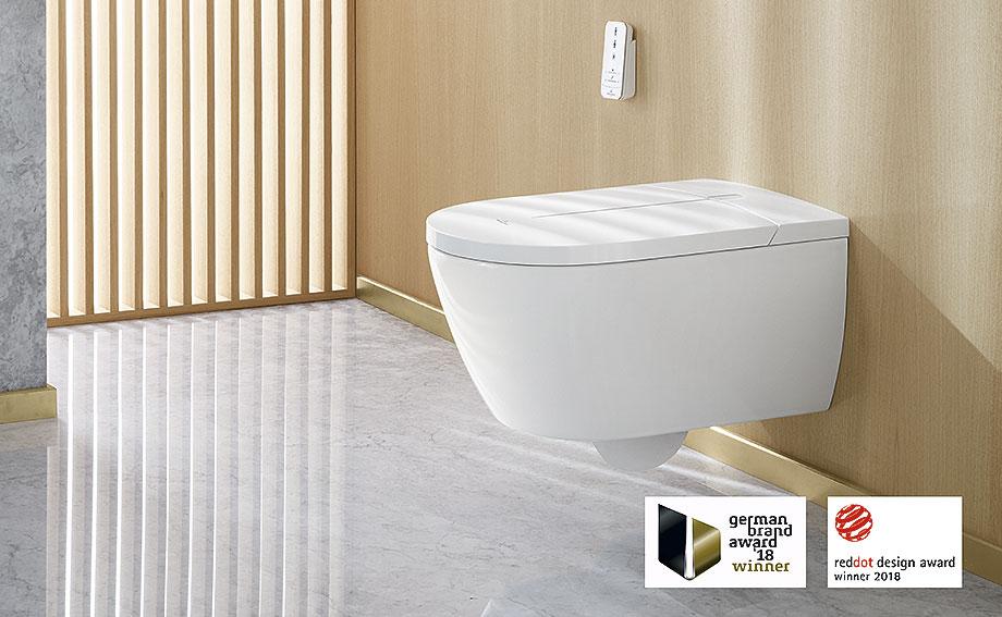 baños minimalistas con villeroy & boch - inodoro bide vi-clean blanco