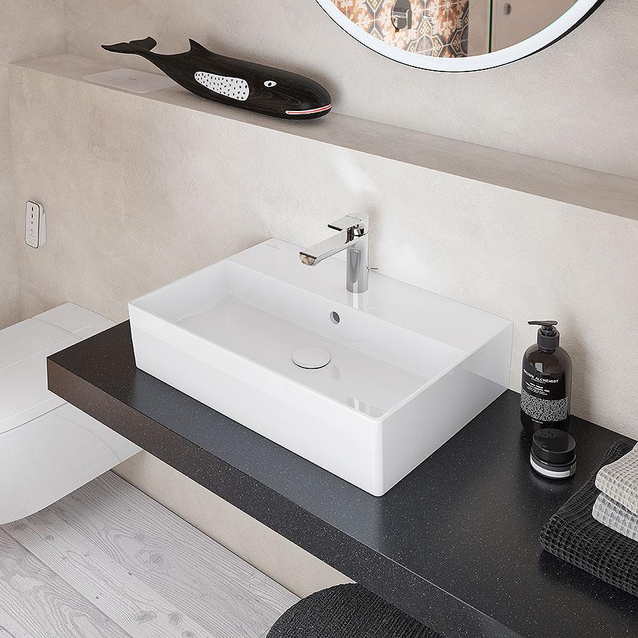 baños minimalistas con villeroy & boch - lavabo memento 2.0 blanco (1)