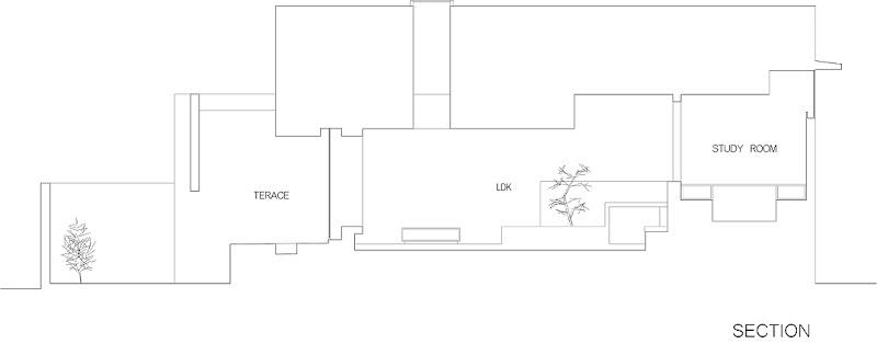 casa unifamiliar con tejado a dos aguas de form kouichi kimura (19) - plano