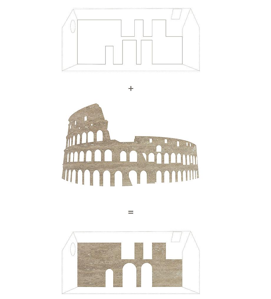 apartamento con un muro de piedra revestido con travertino por 2xj architects (14) - plano