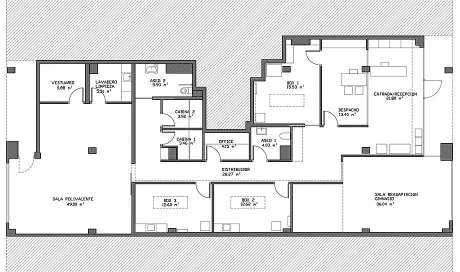 clinica heben de jr arquitectura (15) - plano