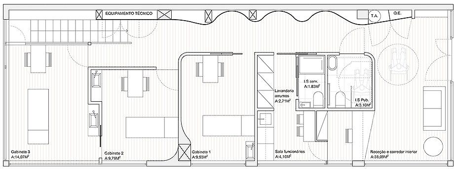 centro de bienestar belife de romulo neto arquitetos (26) - plano