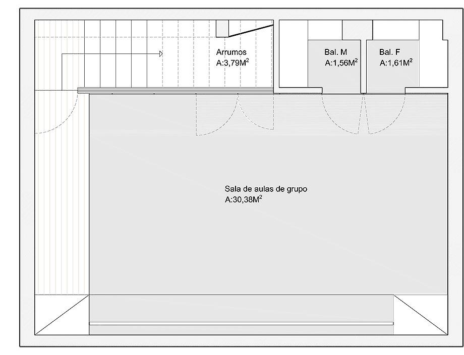 centro de bienestar belife de romulo neto arquitetos (27) - plano