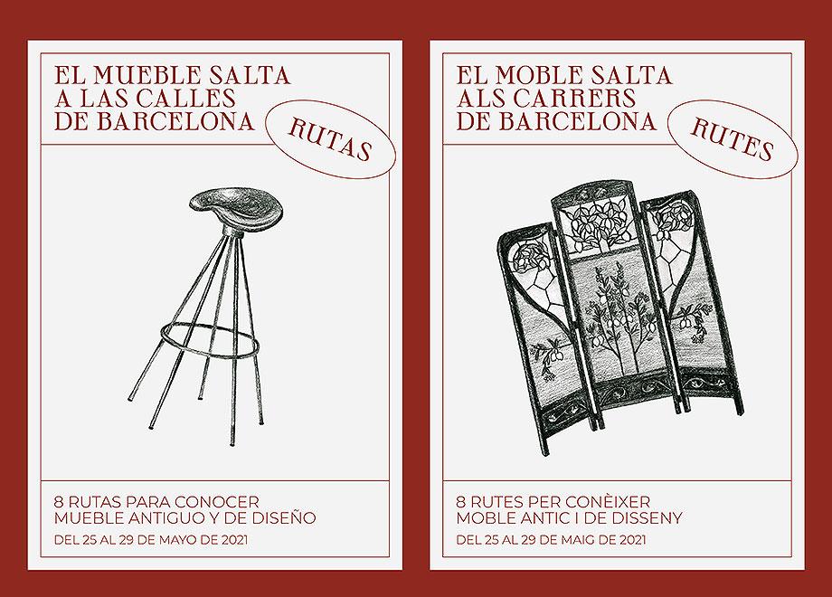 el mueble salta a las calles de barcelona organizado por la asociacion para el estudio del mueble