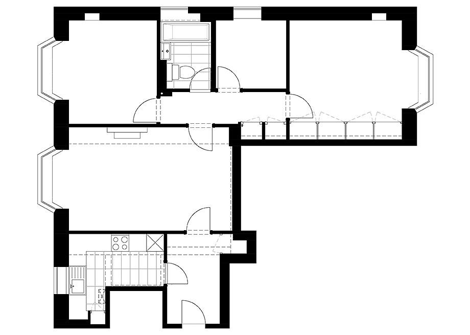 reforma apartamento en Notting Hill por Brosh Architects (19) - foto