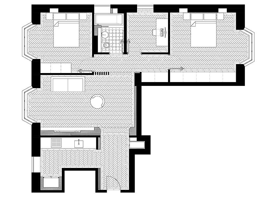reforma apartamento en Notting Hill por Brosh Architects (20) - foto