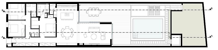 reforma de una casa de pescadores en menorca por gabriel montañes (11) - plano