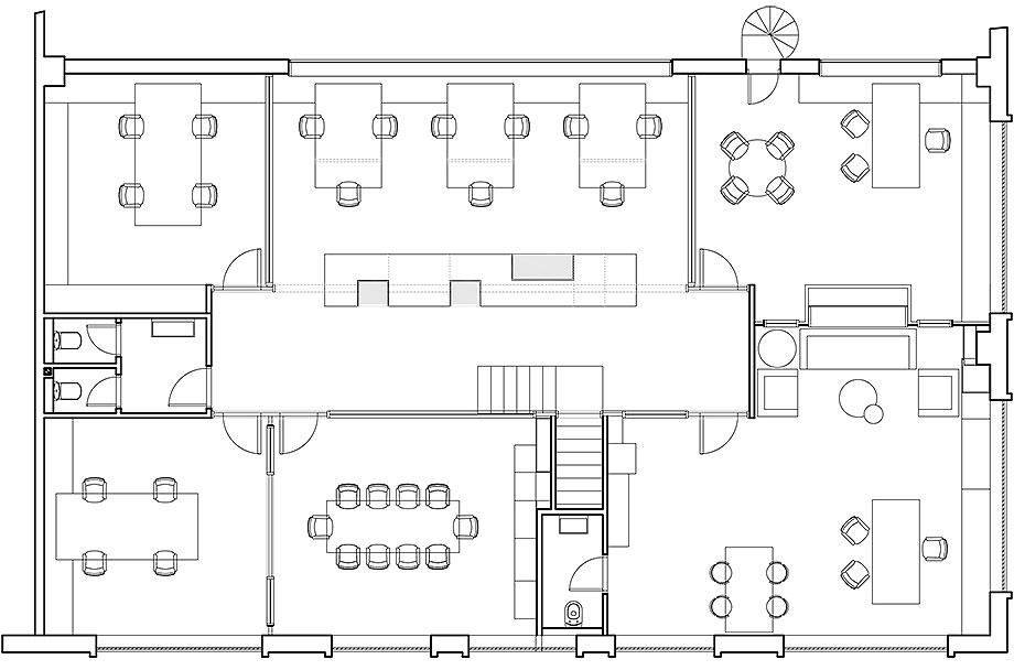 reforma oficinas aura por circulo cuadrado (12) - plano