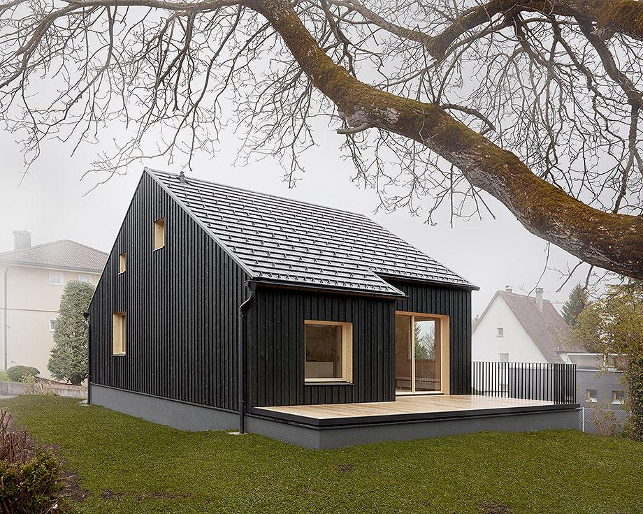 casa de madera de abeto de mwarchitekten (11) - foto adolf bereuter