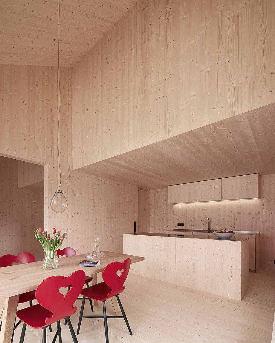 casa de madera de abeto de mwarchitekten (8) - foto adolf bereuter