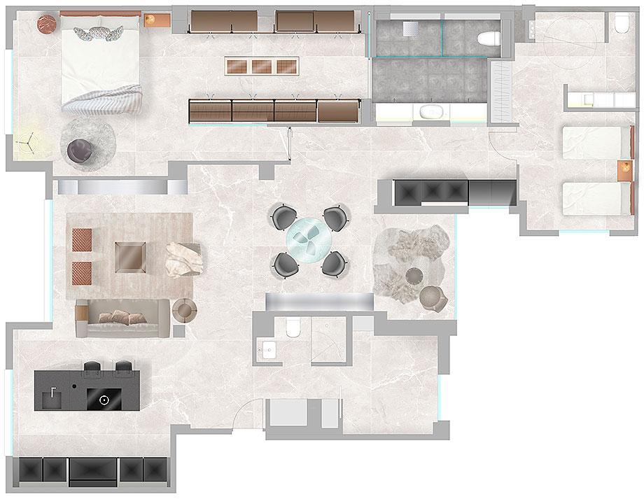 piso en o'donnell por iconno (29) - plano