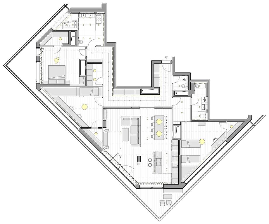 reforma apartamento en praga por barbora leblova (22) - plano